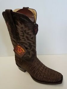 e58b793b608 Details about New Men's Los Altos 588235 Caiman Croc Belly sanded Brown 7  Toe Cowboy Boot
