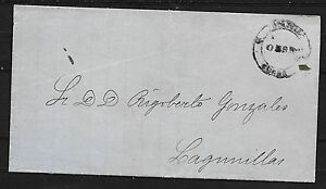 Bolivia covers 1874 Provisional Handstamped SUCRE folded letter