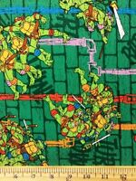 Ninja Turtle Tmnt Sewer Pipe 100% Cotton 43 Fabric By The Yard 36