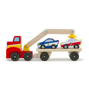 Melissa-and-Doug-Magnetic-Car-Loader-NEW-wooden-vehicle-toy-play-set