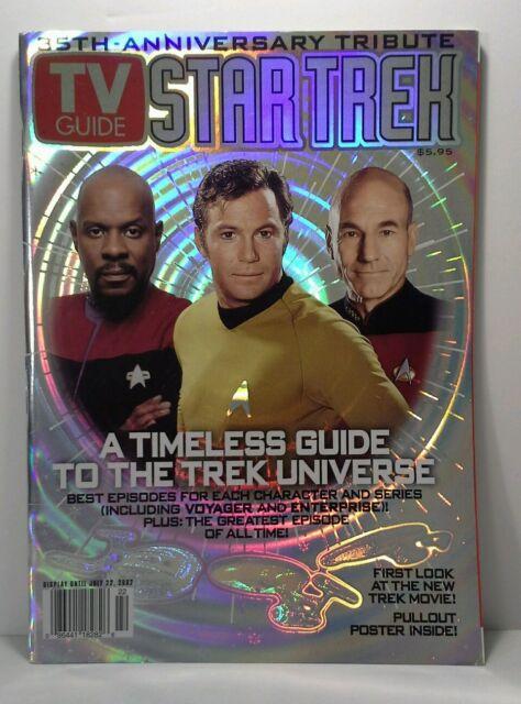 NEW STAR TREK 35th Anniversary Tribute TV GUIDE hologram cover w//Poster 2002