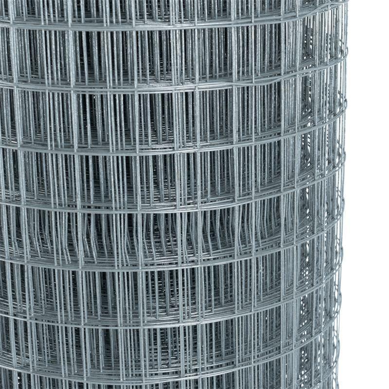 Drahtgitter 4-Eck verzinkt 1mx25m Schweißgitter Volierendraht Maschendraht Zaun
