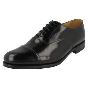 Hombre-Loake-negro-leather-con-cordones-ELLAND-Ajuste-G