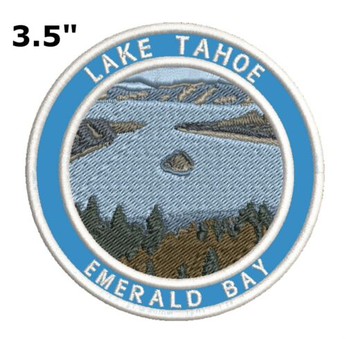 Lake Tahoe Embroidered Patch Iron-On Souvenir Travel Explore National Park