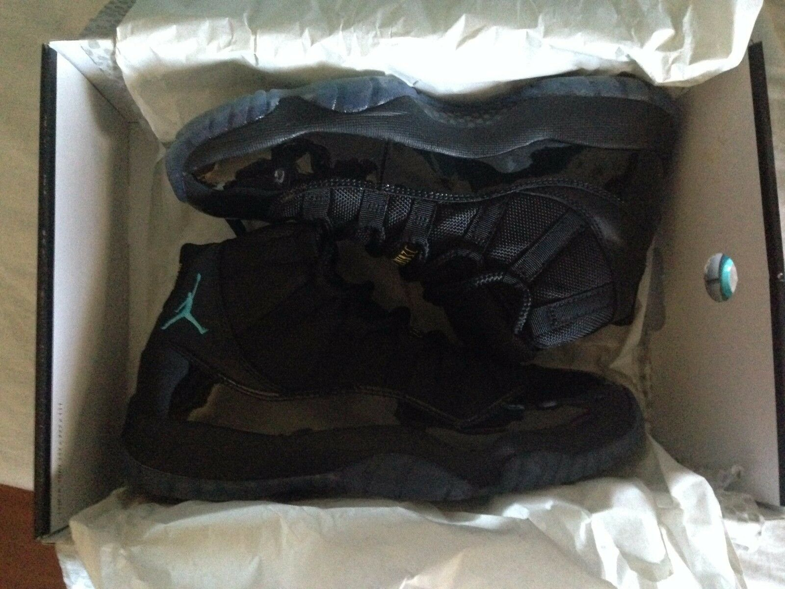Nike Air Jordan 11 Retro Black/Gamma Blue-BLCK-VRSTY MZ 378037 006 SIZE 7 US