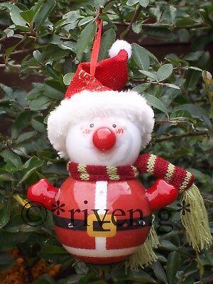 LED CHRISTMAS TREE DECORATION LIGHTS SANTA BAUBLE HANGING FLASHING NOSE