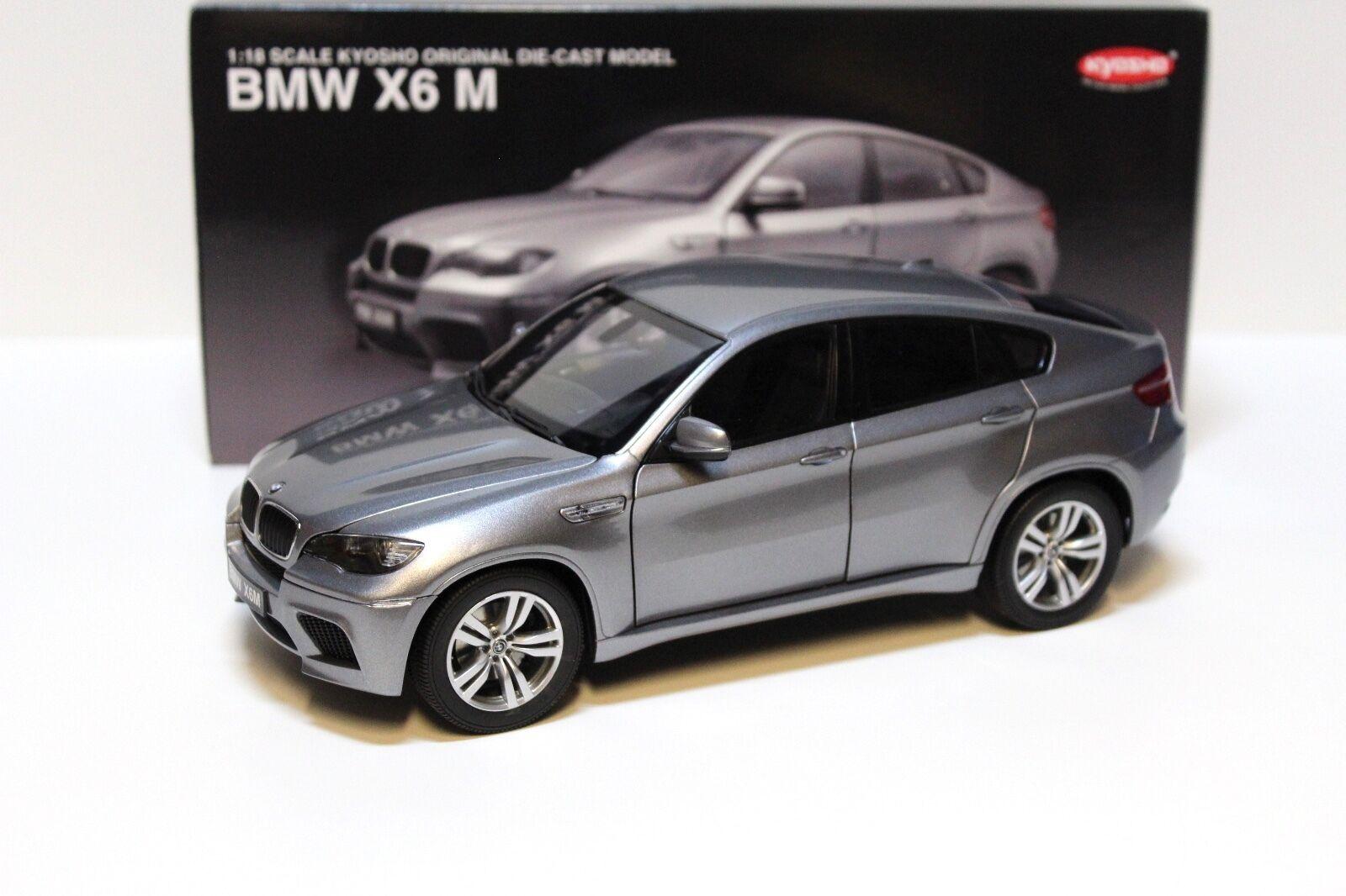 1 18 Kyosho bmw x6m (e71) 2009 grigio New en Premium-modelcars