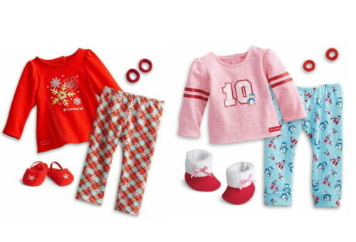 """2-in-1 American Girl Holiday Dreams Pajamas /& Penguin PJs Set for 18/"""" Dolls NEW"""