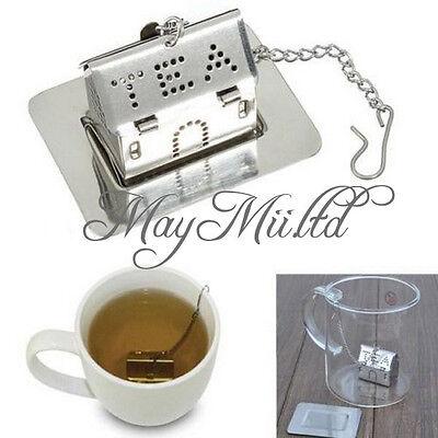 Stainless Steel House Tea leaf Bag Locking Mesh Strainer Tea Infuser