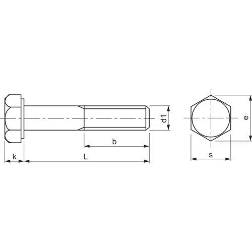 DIN 931 8.8 M12x 85 verzinkt Sechskantschraube mit Schaft
