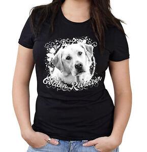 Golden-Retriever-Girlie-Shirt-Natur-Labrador-Hunde-Dog-M1