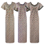 NEW WOMENS 100/% COTTON SUMMER DRESSING GOWN LADIES LEAF PRINT NIGHTY