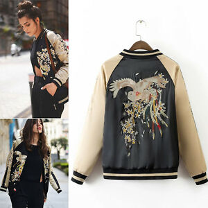 Women-Fashion-Bomber-Jacket-Phoenix-Floral-Embroidered-Baseball-Coat-Outerwear