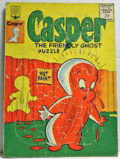 VINTAGE CASPER THE FRIENDLY GHOST FRAME PUZZLE WET PAINT TUCO