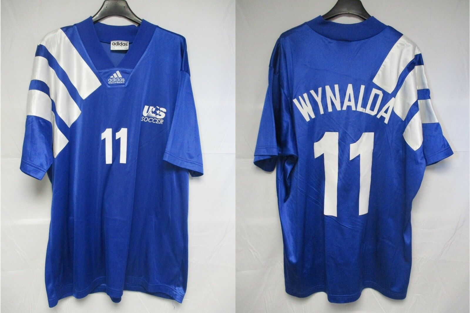 Maillot ETATS-UNIS USA Soccer vintage ADIDAS WYNALDA away shirt jersey trikot XL