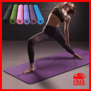 Yoga Mat Gymnastic Fitness Workout Non-Slip Exercise Physio Pilates Thick Large