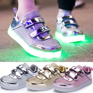 kinder led glow blinkschuhe usb aufladene licht schuhe kinderschuhe sneakers nue ebay. Black Bedroom Furniture Sets. Home Design Ideas