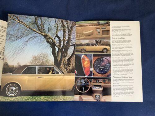 1972 Rolls Royce Silver Shadow Corniche Color Brochure  Catalog Prospekt