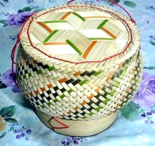 New Balloon Shape Kra-tip Sticky Rice Bamboo Basket Handmade Steamer Cookware