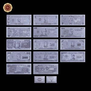 WR-14pcs-US-1-1-Billion-Dollar-Silver-Foil-Banknote-Set-American-Bill-Dad-Gift
