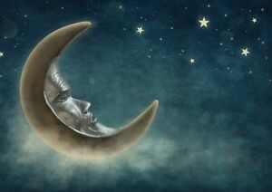 A1-Cool-Nighttime-Moon-amp-Stars-Poster-Size-60-x-90cm-Kids-Poster-Gift-16693