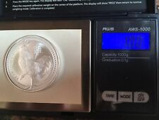 2017 Niue $2 NUD FV Chinese Panda 1 Troy Ounce .999 Silver Bullion BU Round Coin