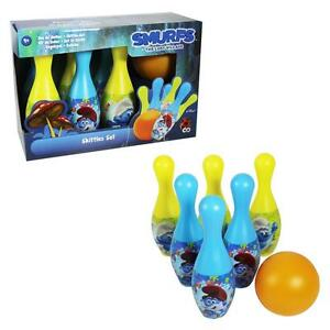 Children's Character 6 Pin Skittles Bowling Set - Smurfs The Lost Village 5050565226884