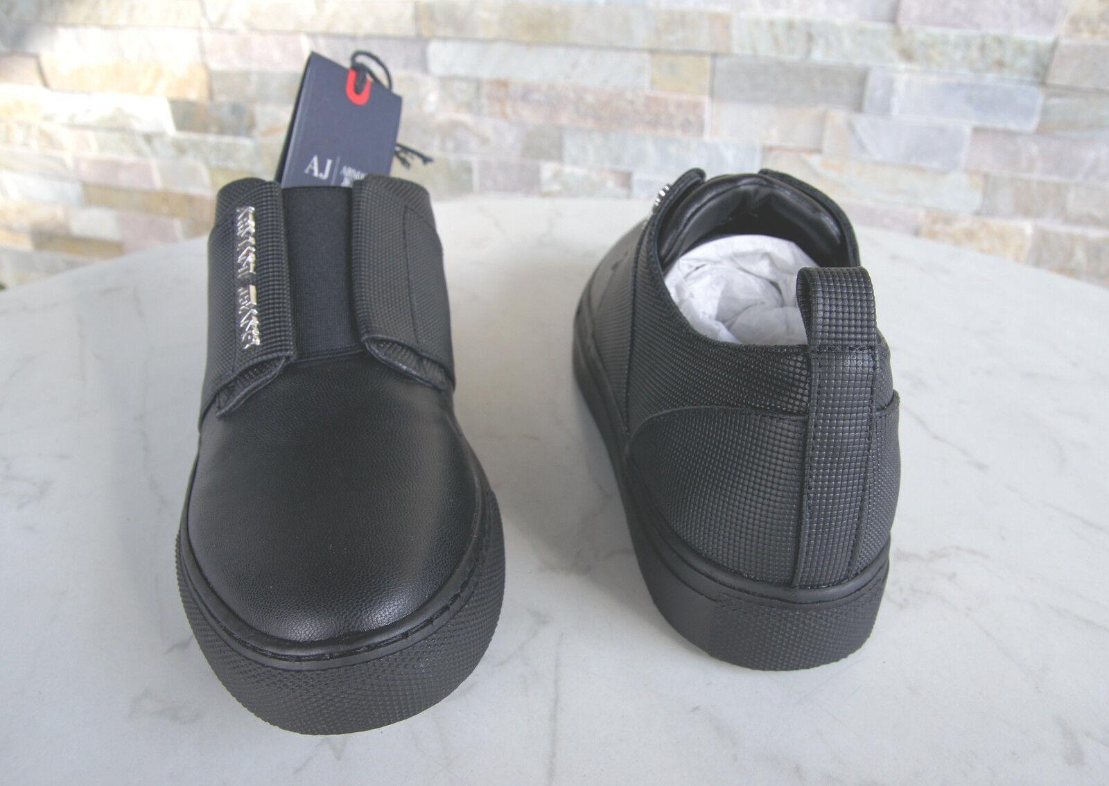ARMANI JEANS Sneakers Gr schwarz 39 Slipper Slip-Ons Schuhe 6A518 schwarz Gr NEU bd1912