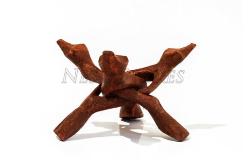 #JC-46 48 pcs Carved Tripod Wood Stand Holder 6/""