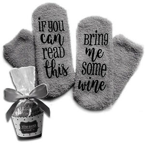 1-Paar-Damen-Wein-Kaffee-Socken-Geschenk-Brief-Drucken-039-If-You-can-read-this