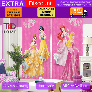 Disney Princess 3D Blockout Curtains Snow White Barbie Doll Print Blackout Drape