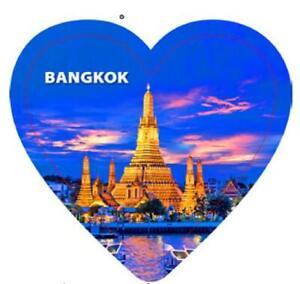 Bangkok Thailand Heart Keychain Epoxy Keyring Souvenir, 10cm
