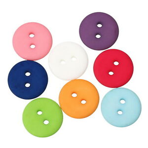 PD 50 Mix Harz Rund Knopf Knöpfe Buttons 2 Löcher 18mm