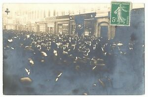 CPA-73-Chambery-Manifestation-du-8-fevrier-1914-organisee-par-le-Parti-Liberal