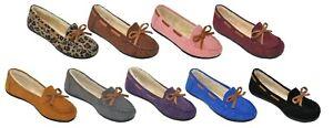 Comfort-Zone-Women-039-s-Moccasins-Slip-On-Fleece-Lined-Indoor-Outdoor-Slipper-Shoes