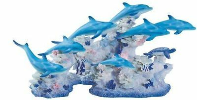 Dolphin Dolphins Sea Ocean Coral Art Color Vanity License Plate Aluminum USA NEW