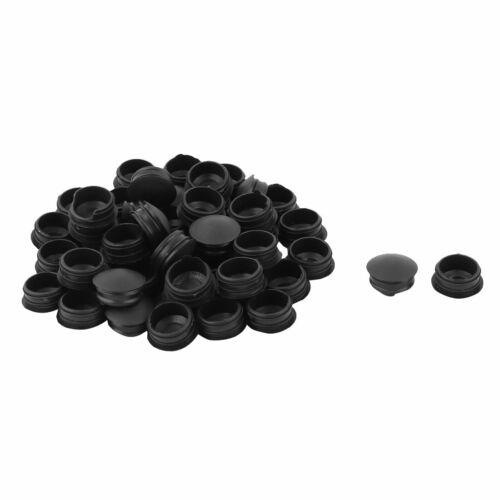 Round ménage Obscurcir Embouts Insérez tube noir 18mm Diamètre 50pcs