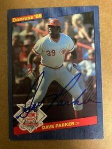 DAVE PARKER Signed 1986 DonRuss 5x3 1/2 Jumbo Card JSA Sticker**