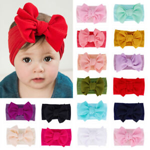Toddler-Baby-Girl-Soft-Corn-Hair-Band-Kids-Solid-Color-Bow-Headband-Headwear