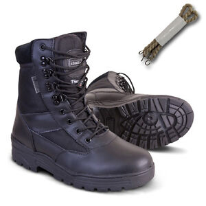 Half New Patrol Military Boot nero Leather Tactical All Combat Cadet Sizes Army pxwqFS5