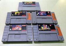 (5) SNES Super Nintendo Power Rangers Beavis/Butthead Aladdin Donkey Kong 2
