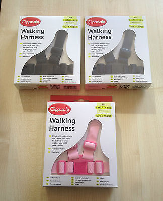 Clippasafe Child Baby Toddler Safety Walking Harness reins washable UK SELLER