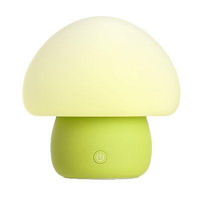Emoi Multicolor LED Portable Silicone Cute Mushroom Night Lamp (H0022G)