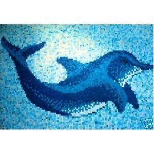 G6 mosaico gigante vetro delfino piscina bagno decorativo nuovo arredamento ebay - Mosaico vetro bagno ...