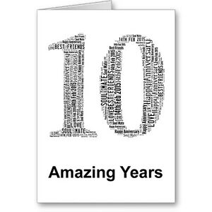Personalised-Printed-Typographic-Tenth-10th-Anniversary-Card-Gift-Male-Female