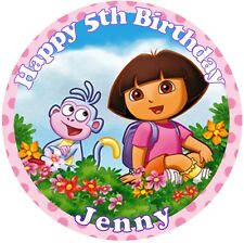 """Dora the Explorer Edible personalised icing sheet cake topper 7.5"""" Round"""