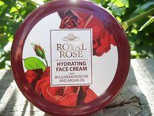 Royal Rose, hidratante crema para la cara con aceite de argán y aceite de...