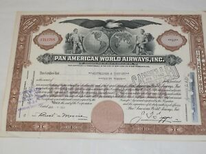 1957 Pan American Stock Certificat Marron F5z6vcvb-08005737-690790776