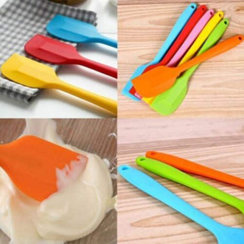 Silicone Spatula Mixing Scrapers Spoon Heat Resistant Kitchen Cooking Baking SJ