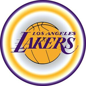Brilliant La Lakers Nba 7 Inch Edible Image Cake Cupcake Toppers Party Funny Birthday Cards Online Sheoxdamsfinfo